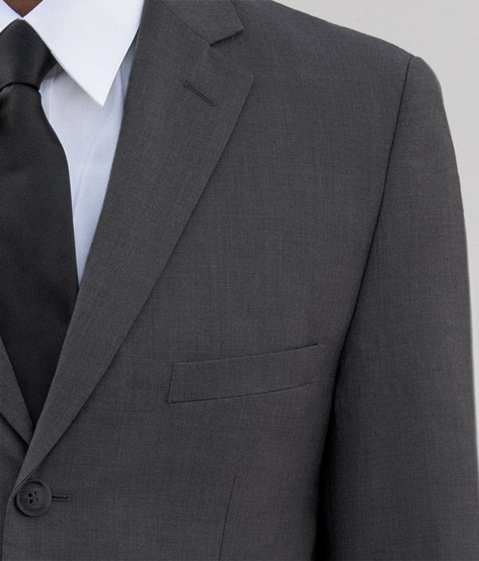 Charcoal Grey Three Button Suit
