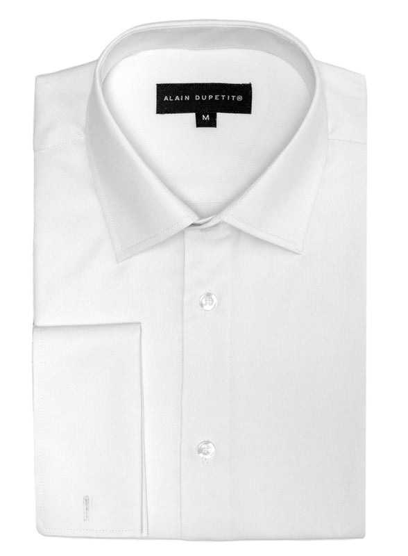 DRESS SHIRT WITH FRENCH CUFFS IN WHITE