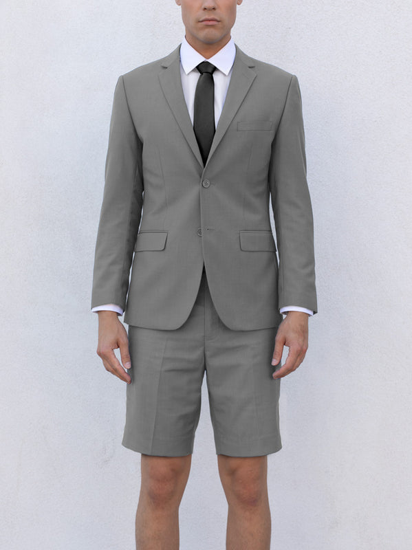 LIGHT GREY SHORT SUIT