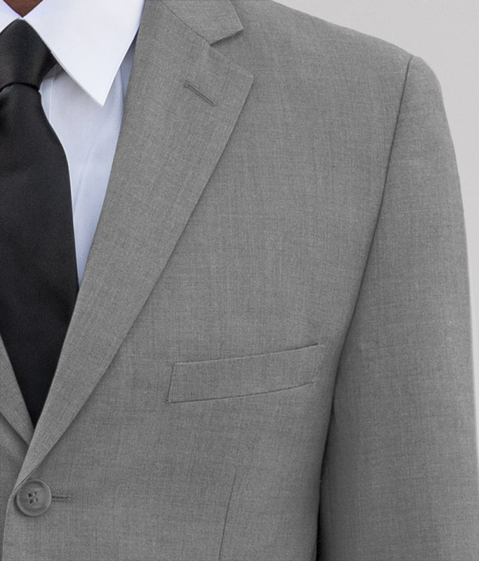 LIGHT GREY THREE BUTTON SUIT