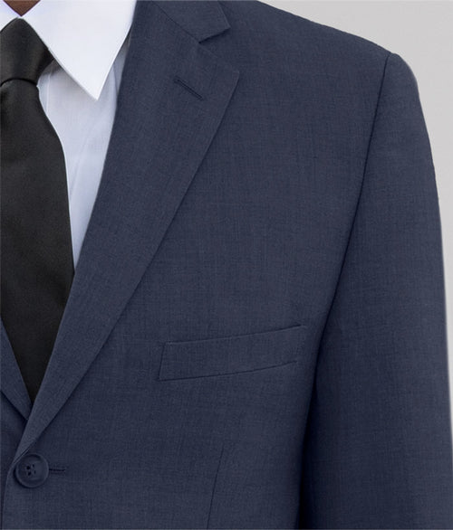 Navy Blue Three Button Suit