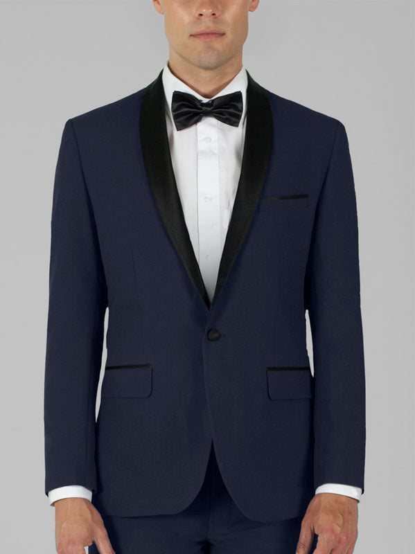 NAVY BLUE TUXEDO WITH SHAWL LAPEL