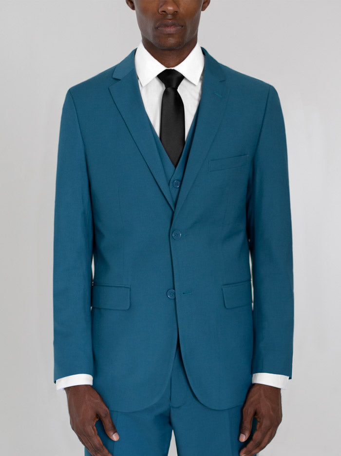 PEACOCK GREEN TWO BUTTON TR SUIT