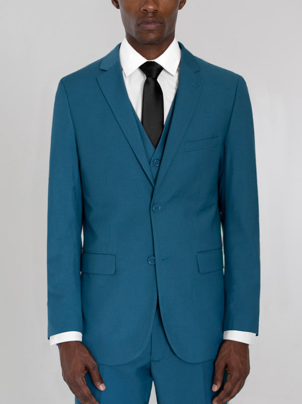 PEACOCK GREEN THREE PIECE SUIT