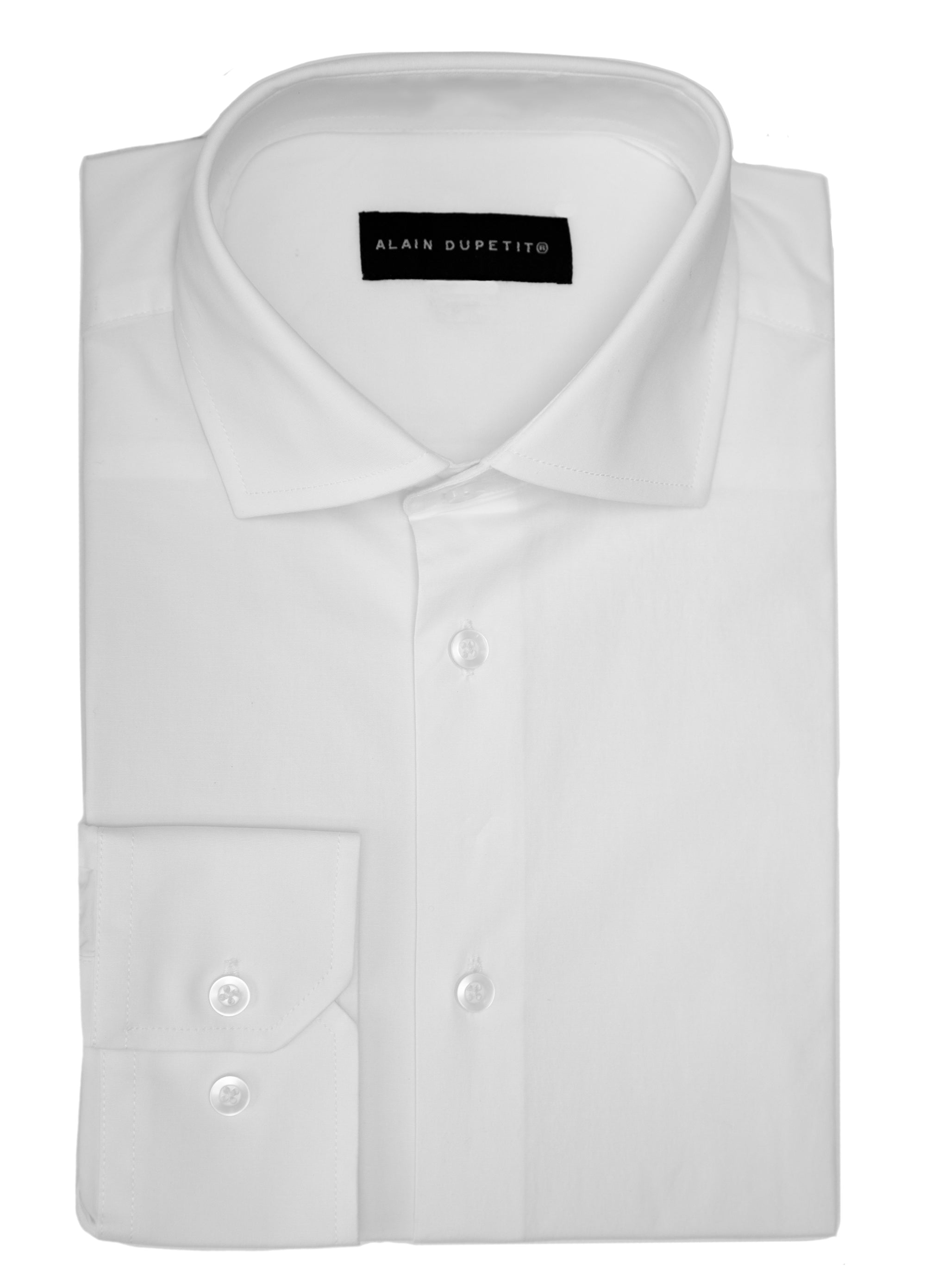Dress Shirt in White - Spread Collar