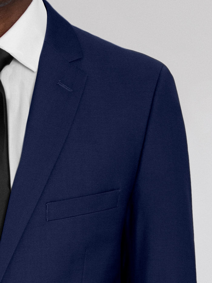 ROYAL BLUE TWO BUTTON SUIT