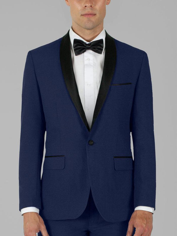 ROYAL BLUE TUXEDO WITH SHAWL LAPEL TR