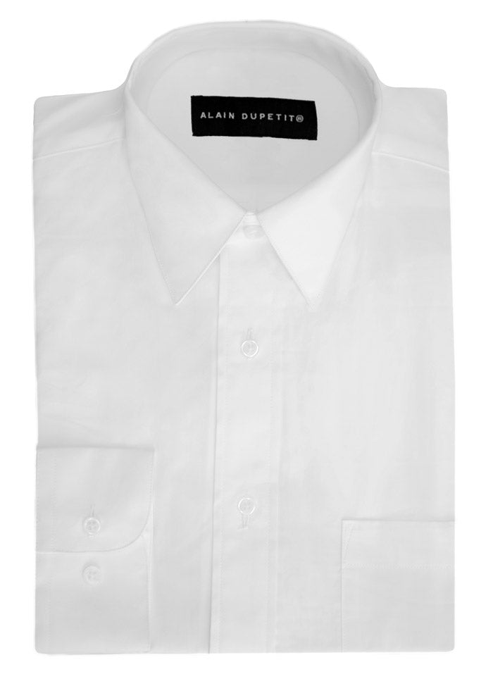 DRESS SHIRT IN WHITE - TRADITIONAL POINT COLLAR