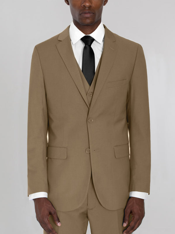 TAN THREE PIECE TR SUIT