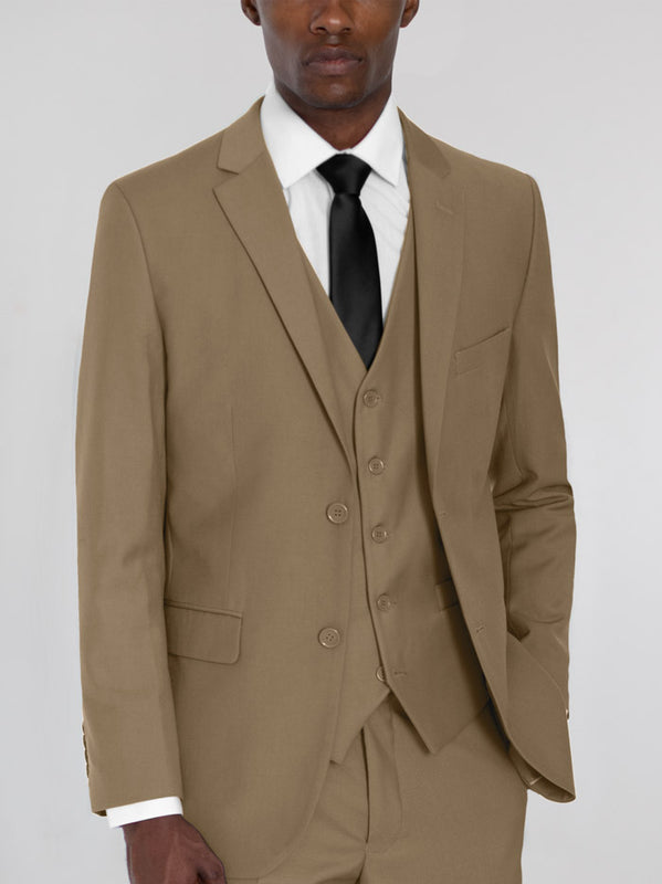 Tan Three Piece Suit