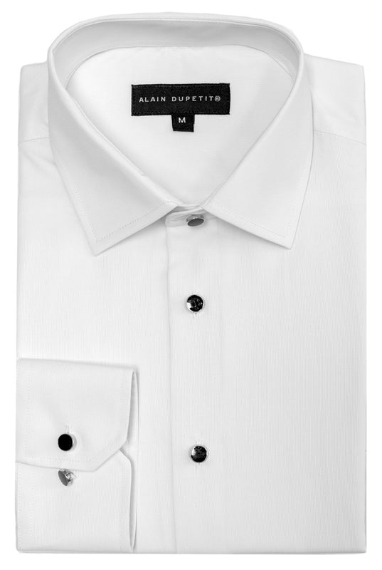 Formal Tuxedo Shirt in White