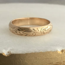solid 14k gold band for men or women