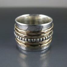 hammered spinner ring with 5 spinners photo #1