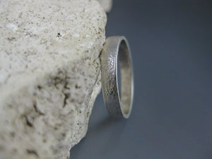 Affirmation silver ring band photo #2