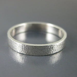 Affirmation silver ring band photo #1
