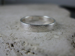 Affirmation silver ring band photo #3