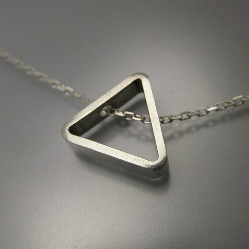 bermuda triangle sterling silver necklace photo #1