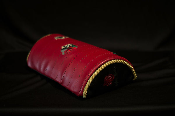 "AGIM JONES Collection- Royalty Red ""Torn"" Neck Pads Limited to 24 sets"