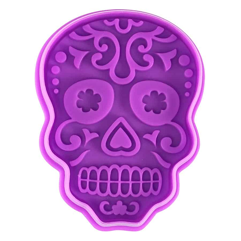 DAY OF THE DEAD SUGAR SKULL STAMPER (3″)