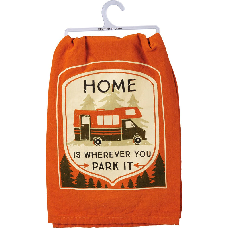 Home is Wherever You Park It - Dish Towel
