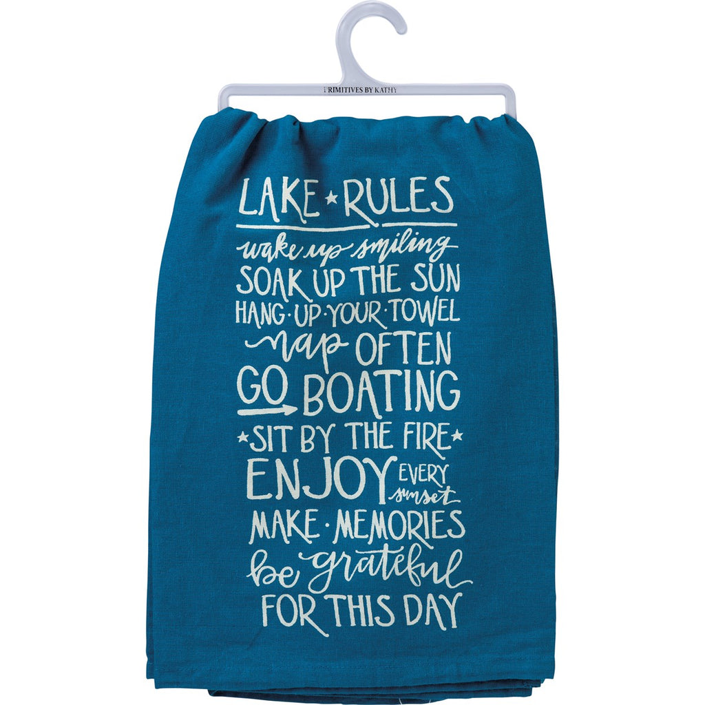 Lake Rules - Dish Towel