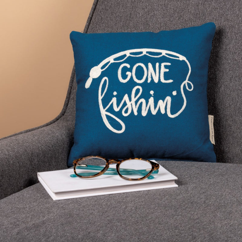 Gone Fishin' - Pillow