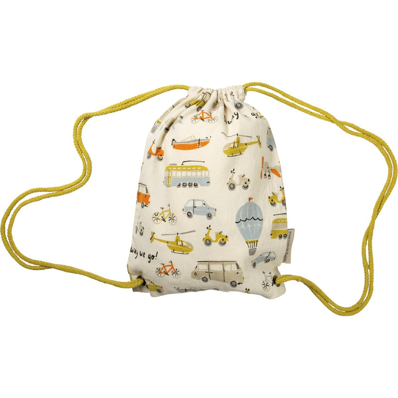 Away We Go - Drawstring Bag