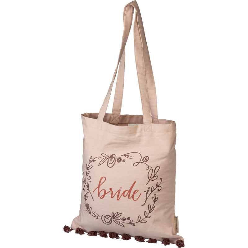 Bride - Floral Tote Bag