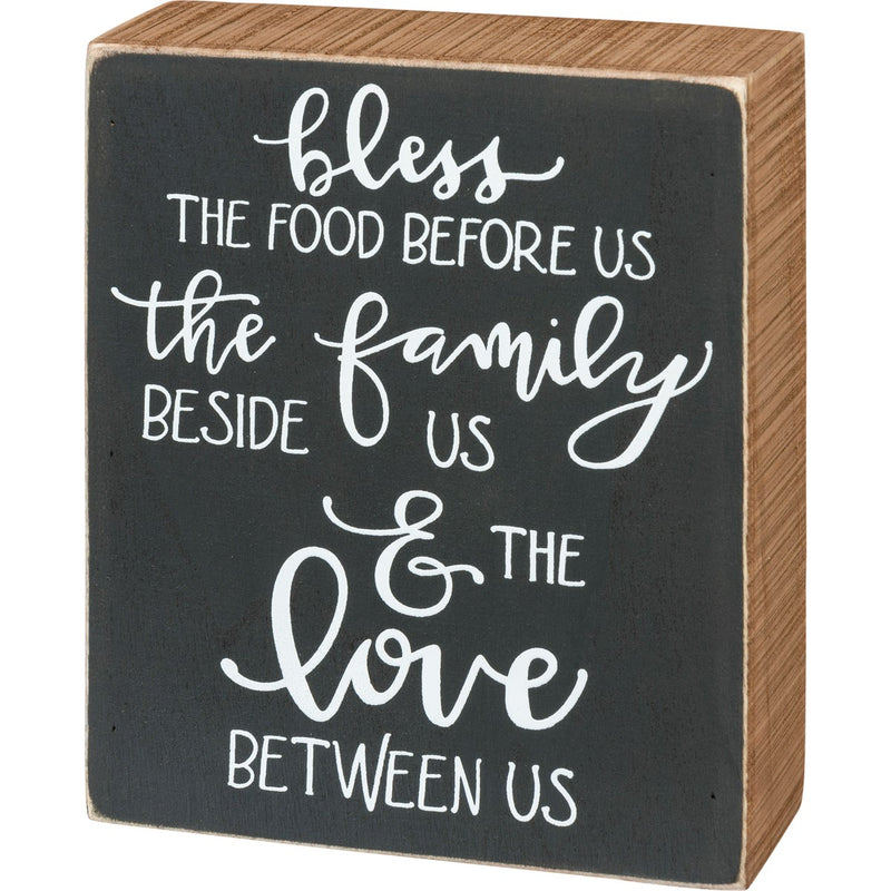 Bless the Food - Family Sign