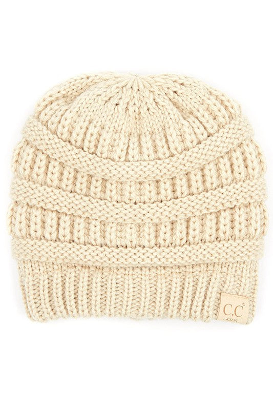 Multiple Colors: Kids CC Fuzzy Lined Beanie