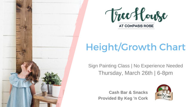 Height/Growth Chart Sign Painting Class | March 26th