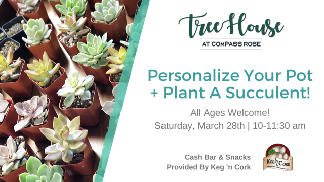 Custom Pot and Succulent Class | March 28th