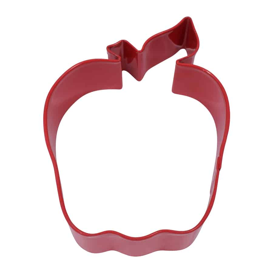 APPLE COOKIE CUTTER (RED, 4″)