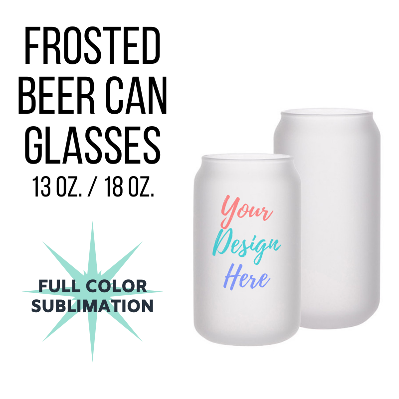 Custom Frosted Beer Can Glasses