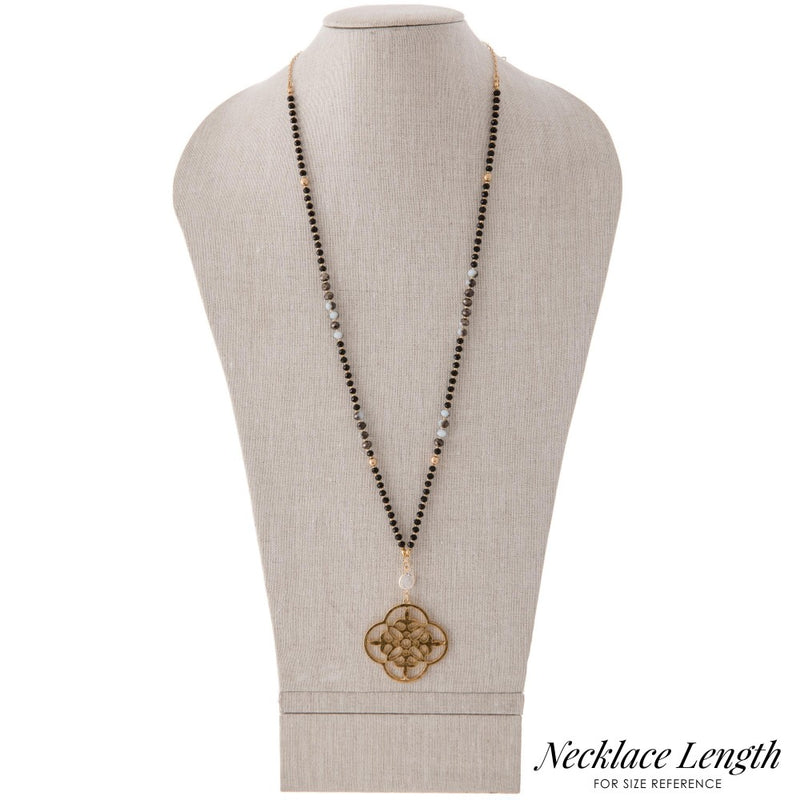 Sacred Geo Pendent - Long Necklace