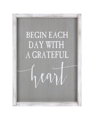 Grateful Heart - Sign