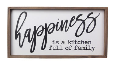 Happiness - Kitchen Sign