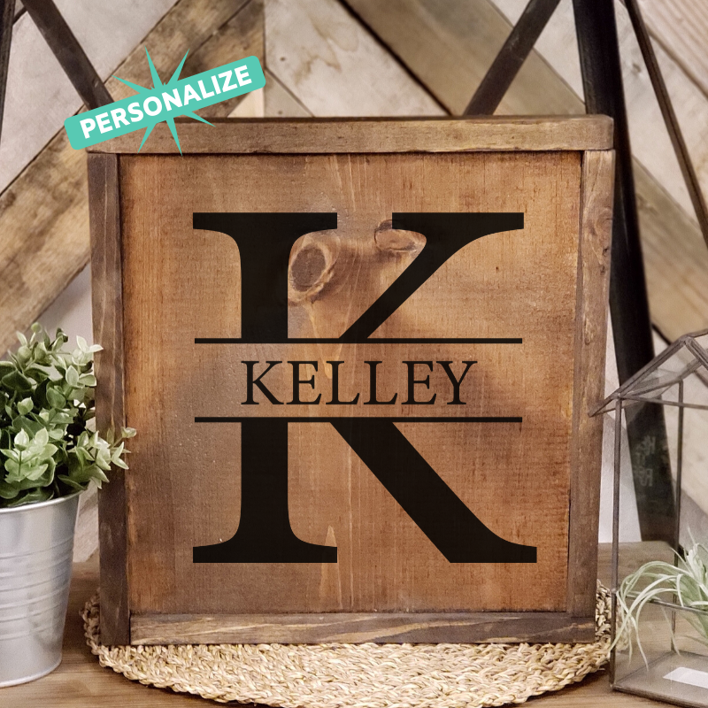 Strike Through Family Sign - Personalize