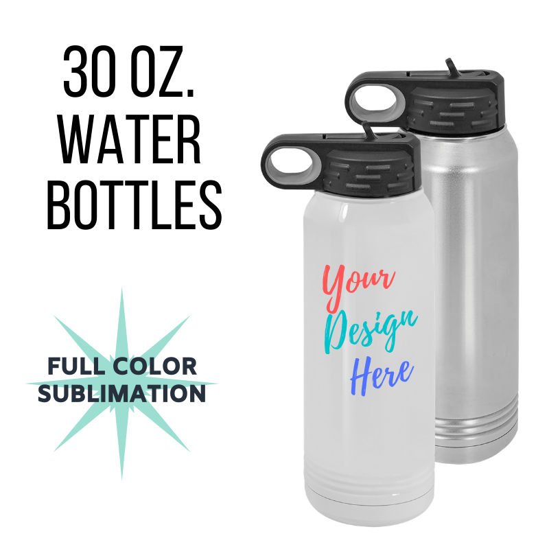 30 oz. Custom Water Bottle