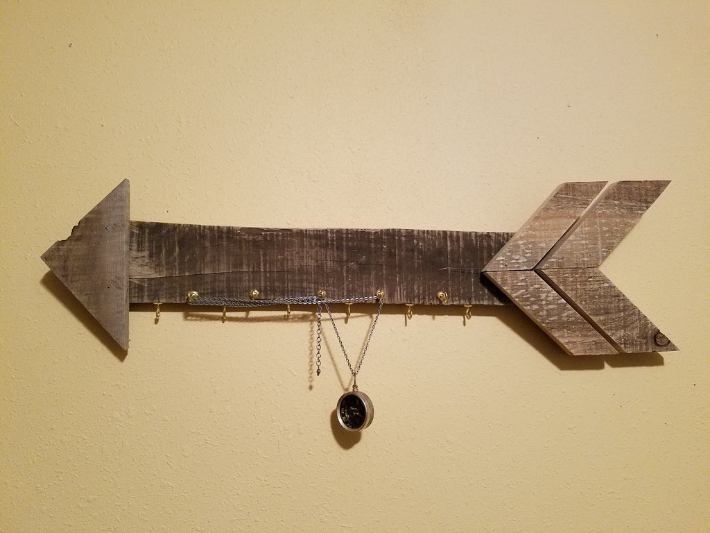 Arrow - Barn Wood Sign, Key or Jewelry Holder