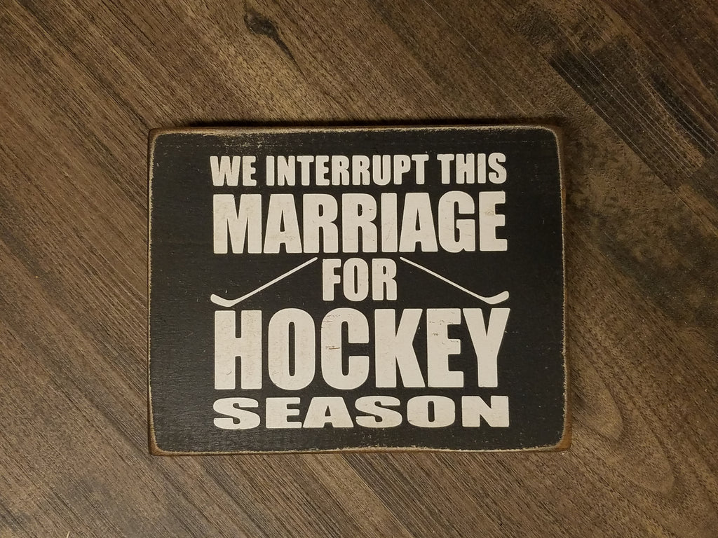 We Interrupt This Marriage for Hockey Season
