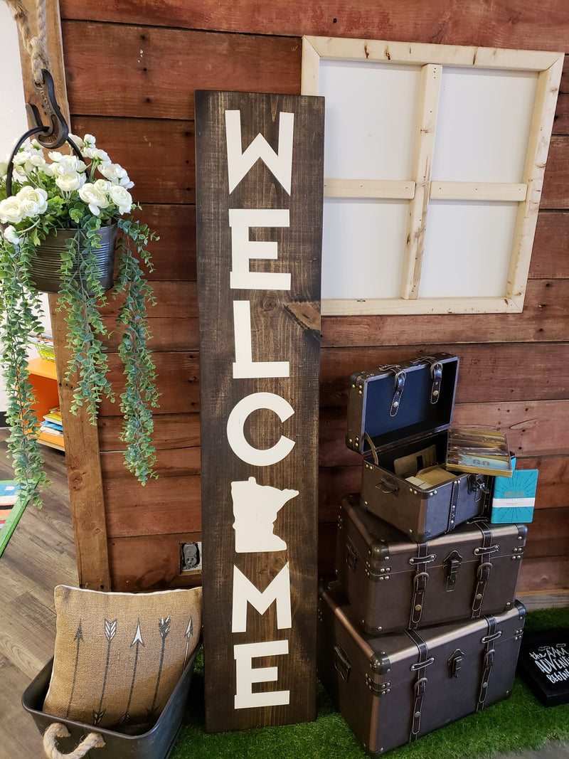 Welcome {STATE} Porch Sign