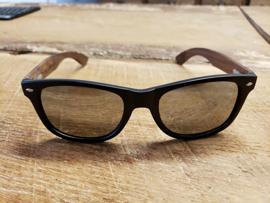 MN Silver Lens Walnut Wood Sunglasses