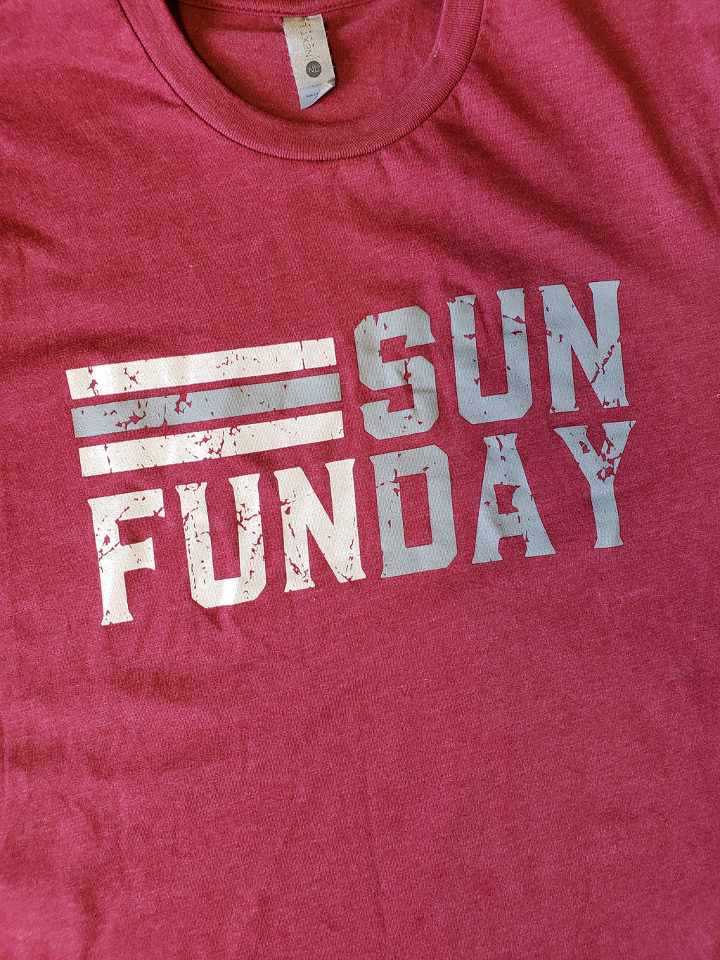 Sunday Funday Tee - Cardinal/Gray
