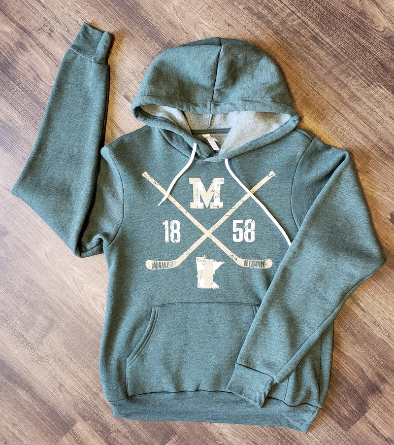 Plaid Hockey Hoodie - Forest Green