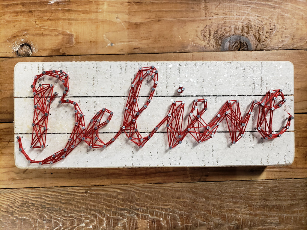 Believe - String Art