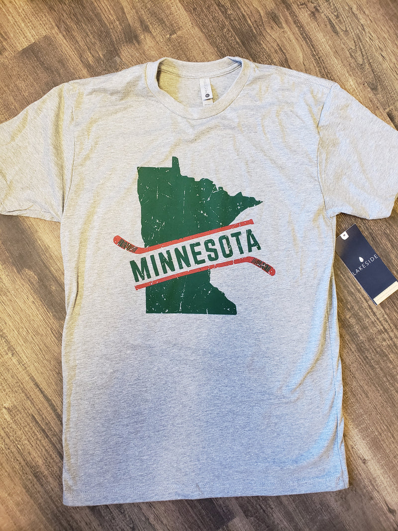 MN Hockey Tee - Green/Red
