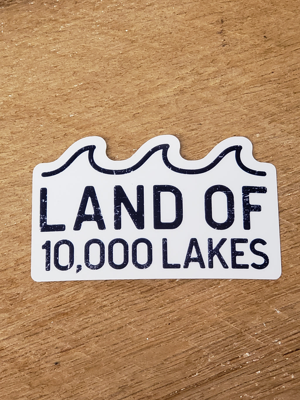 Land of 10,000 Lakes Waves - Decal