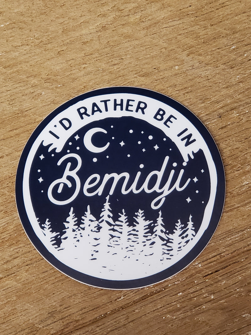I'd Rather Be in Bemidji - Decal