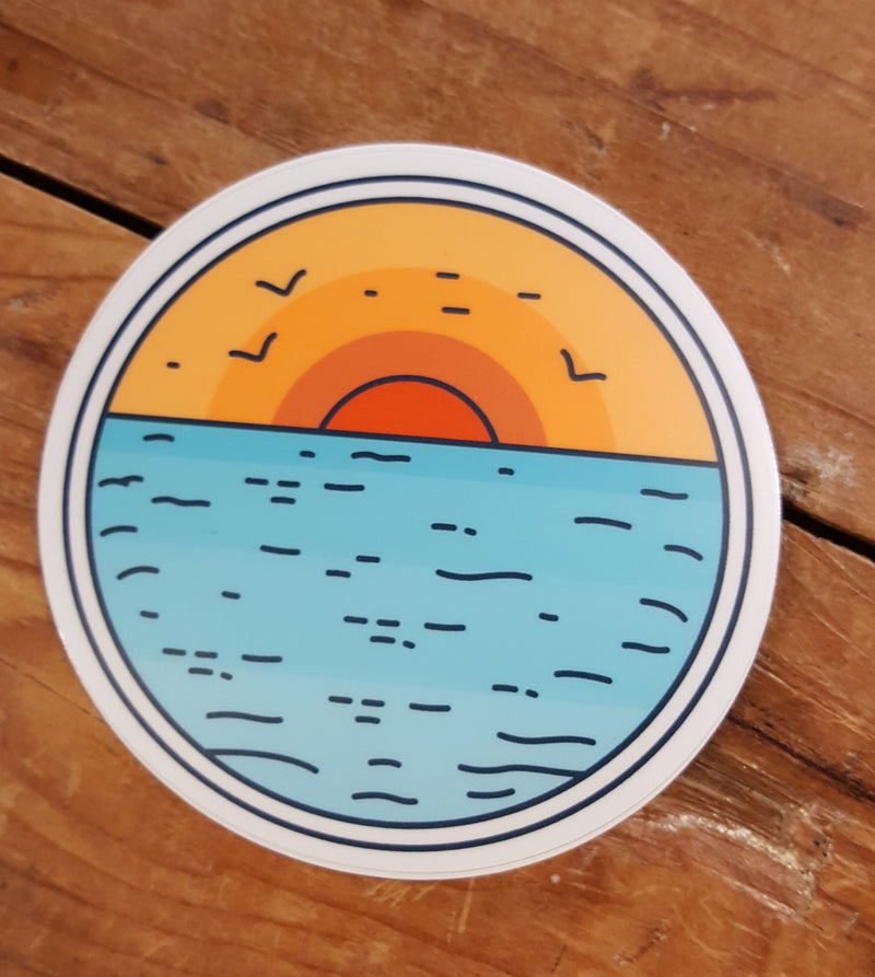 Sunset Over Water - Decal